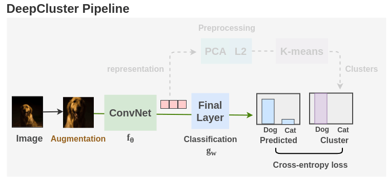 Representation Learning Part of the DeepCluster Pipeline