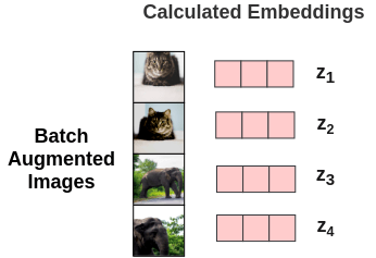 Projecting image to embedding vectors